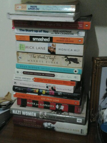 Stack of books.KerrysBlogjpg